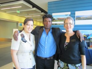 Amy Moore, Dr. Stephon Alexander and Lisa Hinds